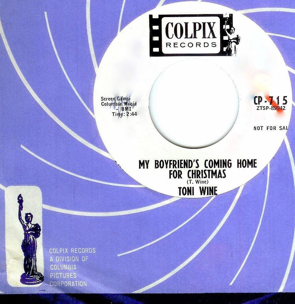 Toni Wine - MY BOYFRIEND\'S COMING HOME FOR CHRISTMAS (1963) | xmas ...