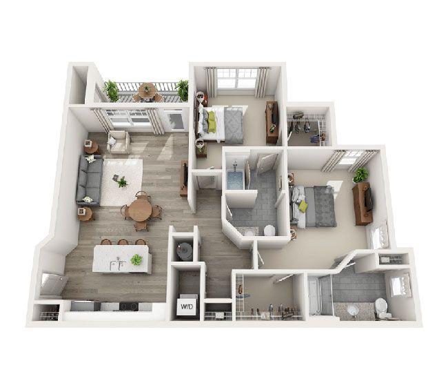 The Saunders Apartment Floor Plans House Plans Luxury Apartments
