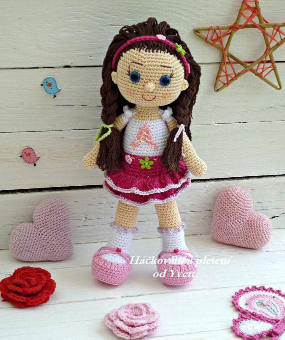 PATRÓN muñeca Andy ganchillo patrón patrón por CrochetfromYvett ...