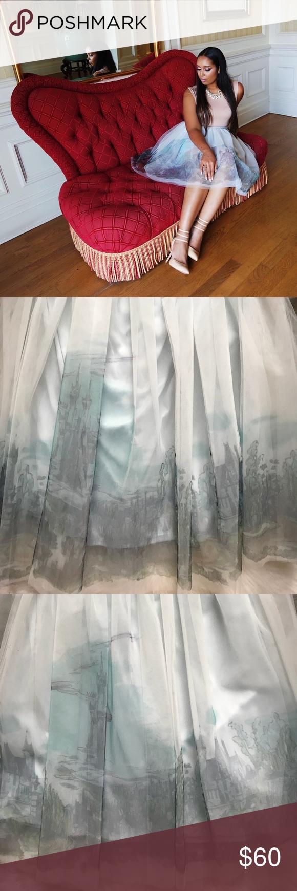 NWT LC Lauren Conrad Tulle Cinderella Skirt L   Lauren