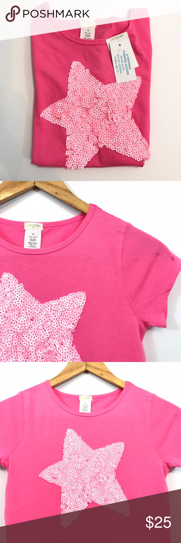 NWT J. Crew Factory Tee NWT sequin star tee. So adorable! J. Crew Factory Shirts & Tops Tees - Short Sleeve