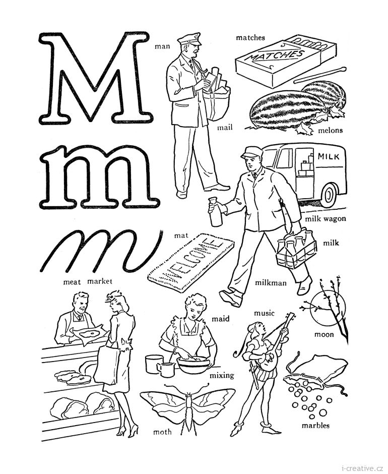 Abc Coloring Pages, Alphabet Words