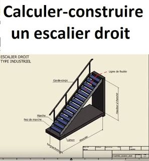 calcul et construction d 39 un escalier droit escalera. Black Bedroom Furniture Sets. Home Design Ideas