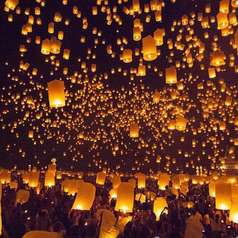 biodegradable flying paper lanterns