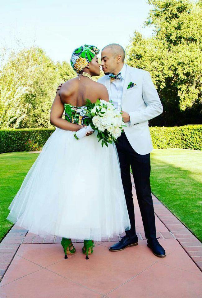 New York Meets Africa Wedding African wedding dress