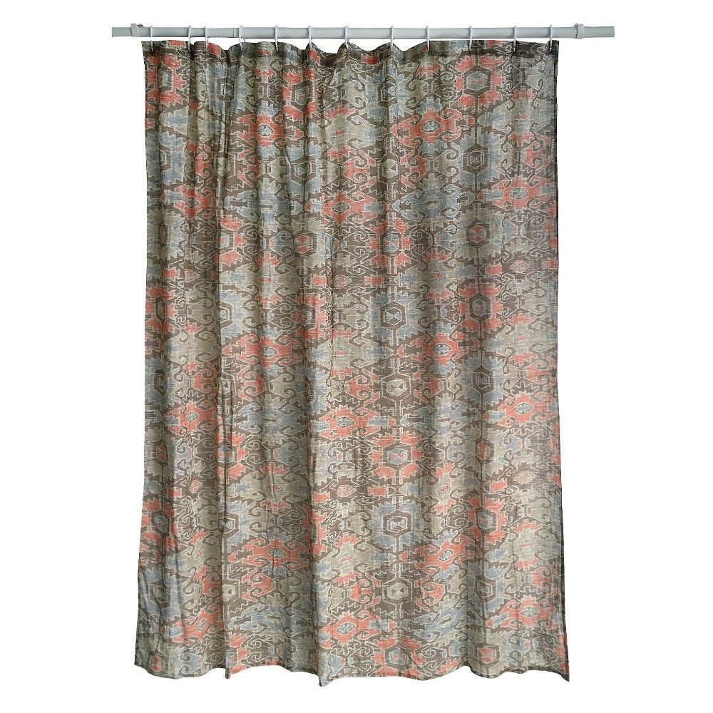 Aztec Print Shower Curtain Threshold Nest Brown With Images