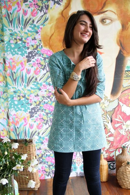 Amy Butler tunic pattern from Japanese sewing book. Clothing for Everyday Wear