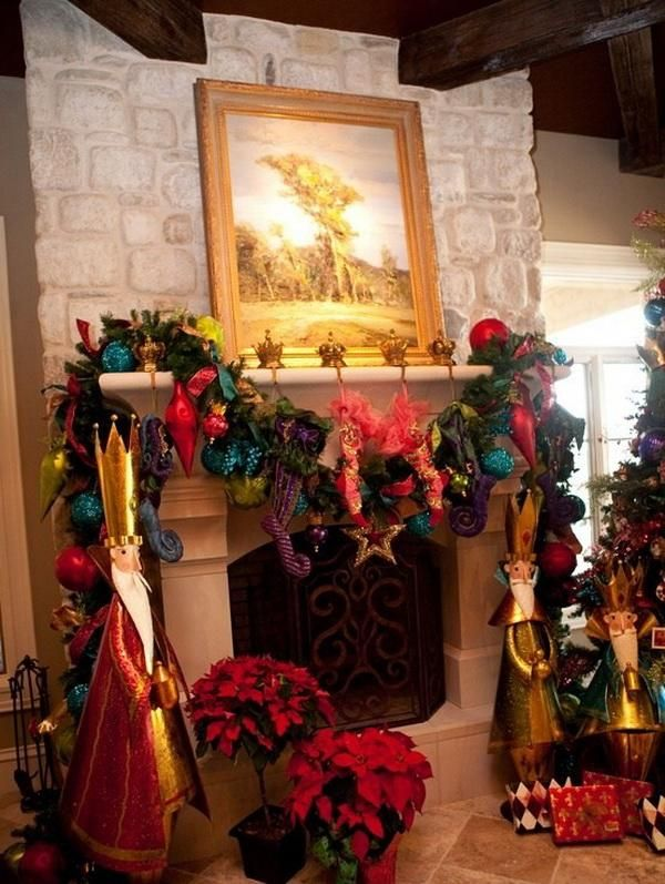 Mantel Decorations  IDEAS INSPIRATIONS Christmas Fireplace Mantel