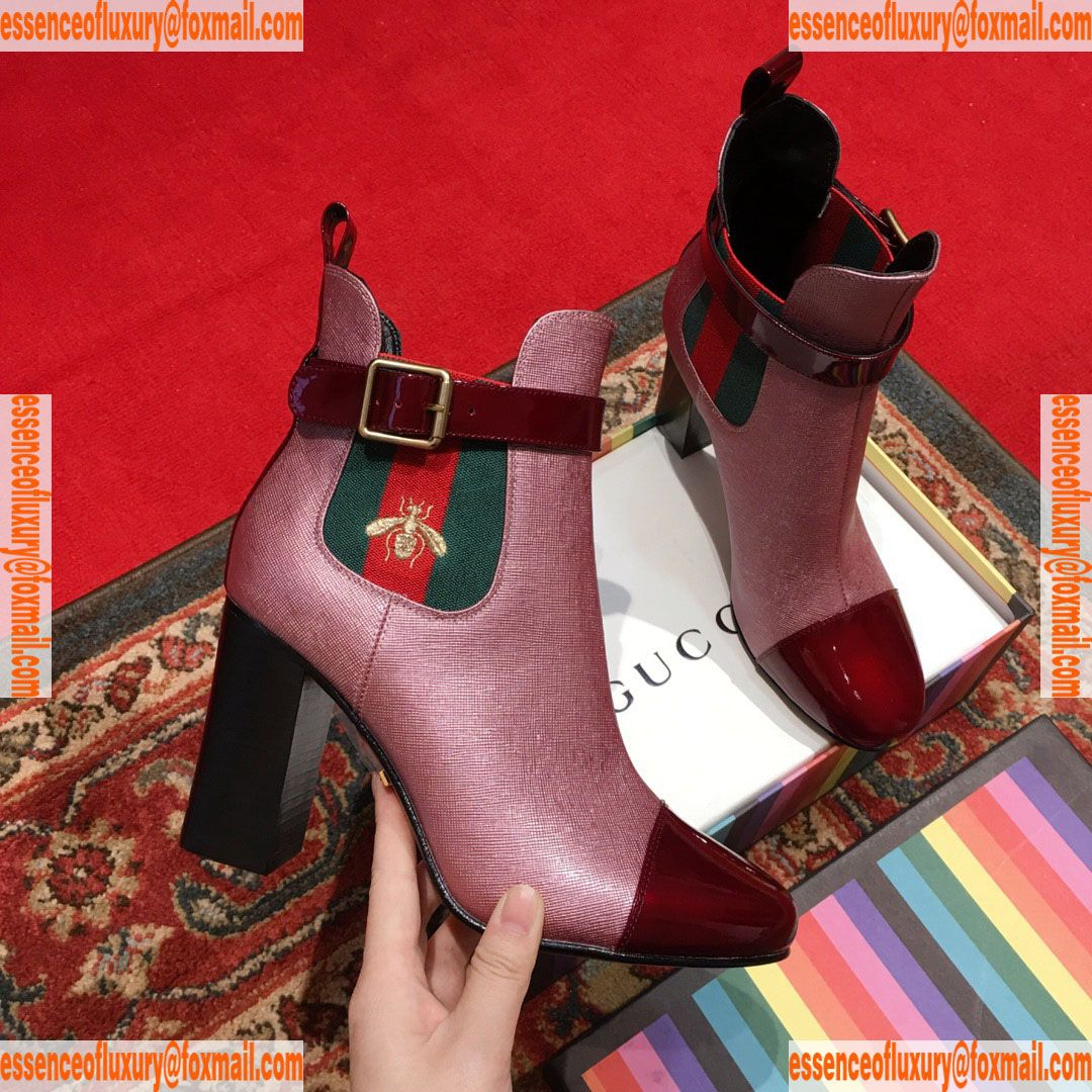 ea426f68d6473 Gucci Leather Web Bee Ankle Boot Gucci Luxury Shoes 35 To 40 A151PP450  AA73633