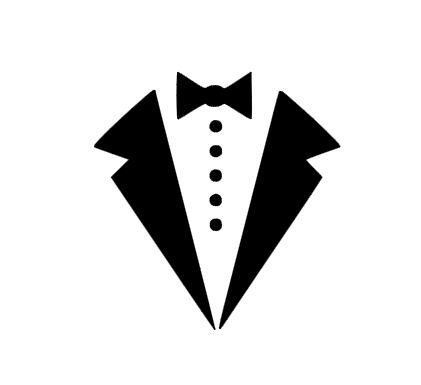 tuxedo bow tie instant download for cutting machines svg dxf eps