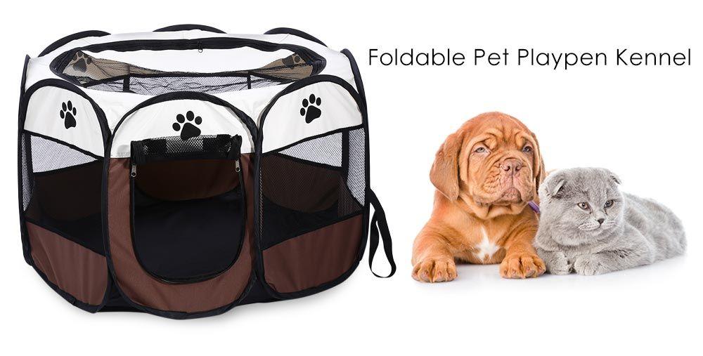 Foldable Portable Pet Dog Cat Playpen Exercise Kennel