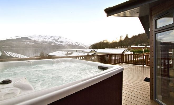 Lomond Royal Lodges At Loch Lomond Loch Lomond Holiday Park Hot Tub