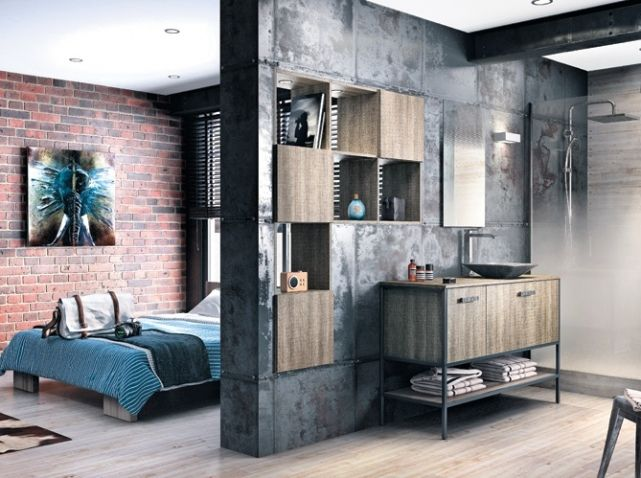 cloison chambre salle de bains mobalpa home deco. Black Bedroom Furniture Sets. Home Design Ideas