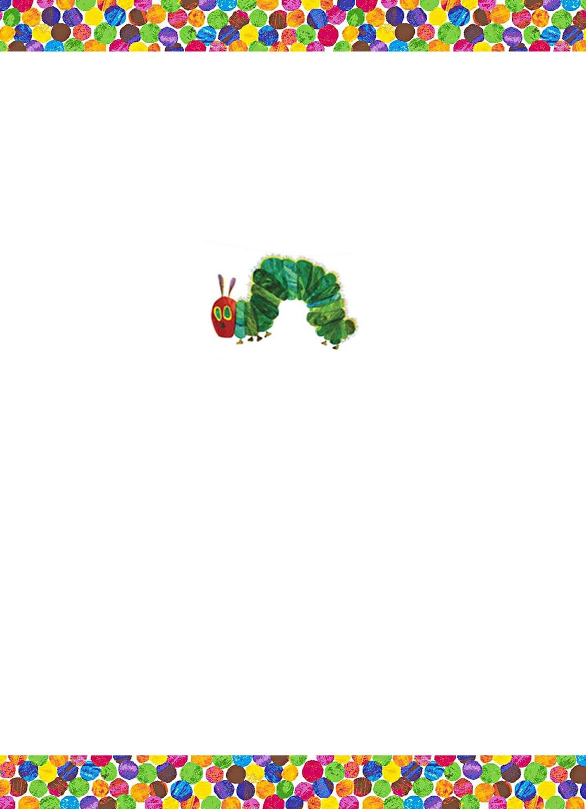 Diy design den free very hungry caterpillar party for Very hungry caterpillar templates free