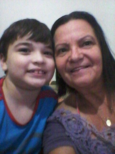 Eu e meu neto Thomas lindo da vovo Angela bjs