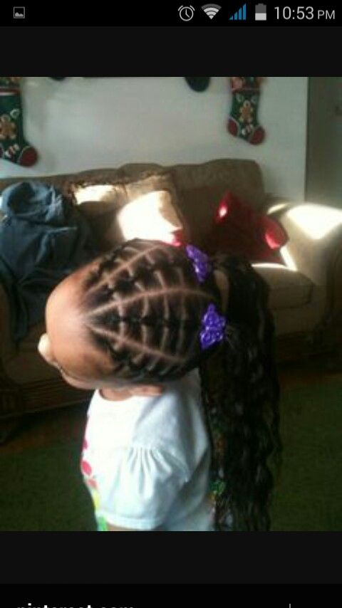 Simple Hairstyles Rubber Band Rows Black Hair Youth Edition