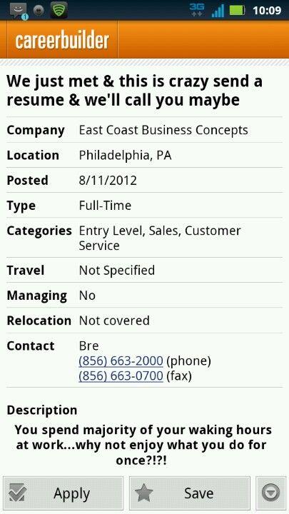 Call Me Maybe Job Resume I Ran Into On Careerbuilder Job Resume Call Maybe Call Me Maybe
