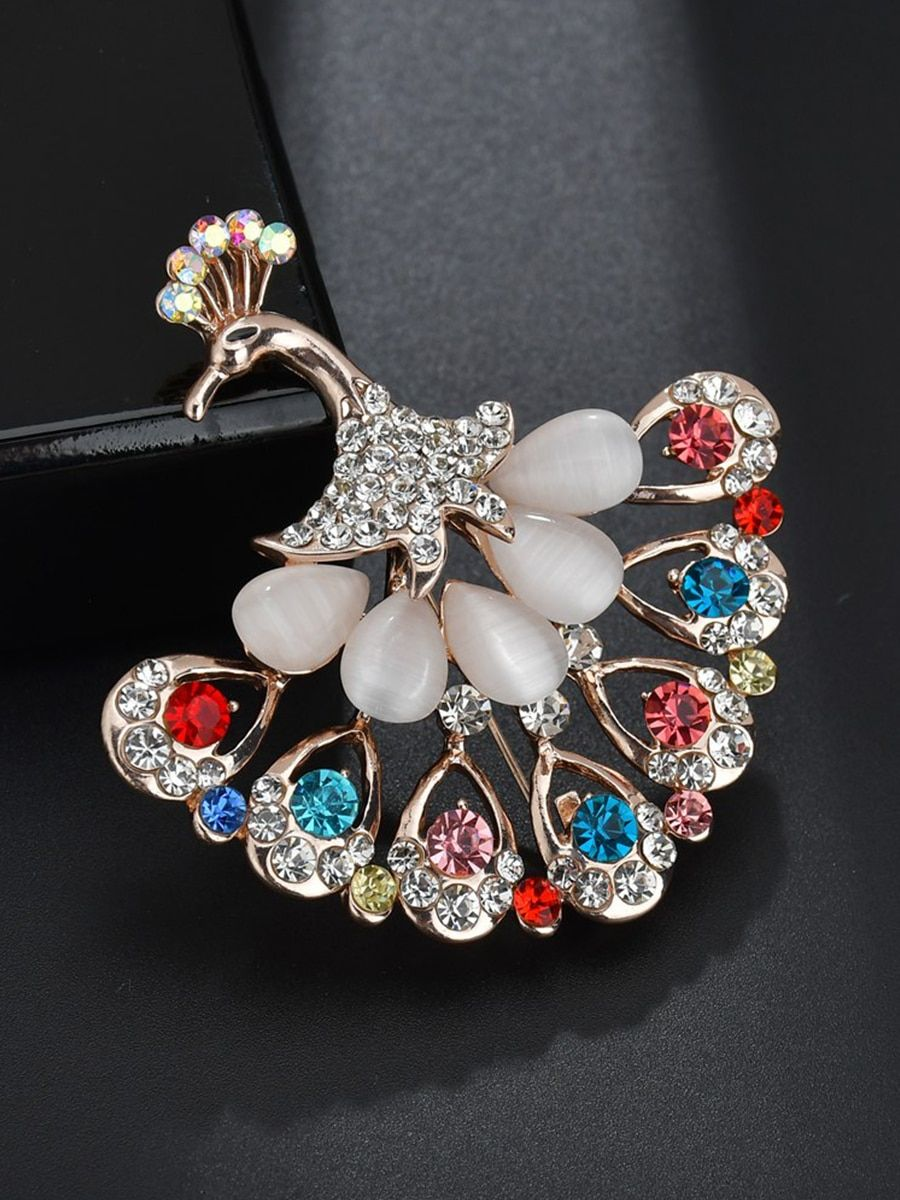 Rhinestone Bird Brooch Enamel Accessory Women Costume Jewellery Birthday Gift