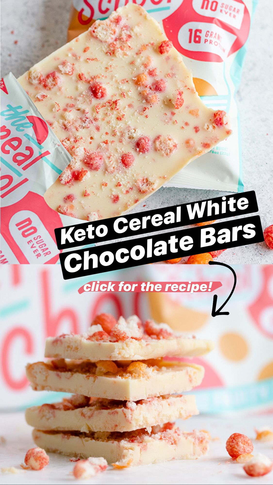 Keto Cereal White Chocolate Bars In 2020 Keto Cereal Low Carb Chocolate Cereal Flavors