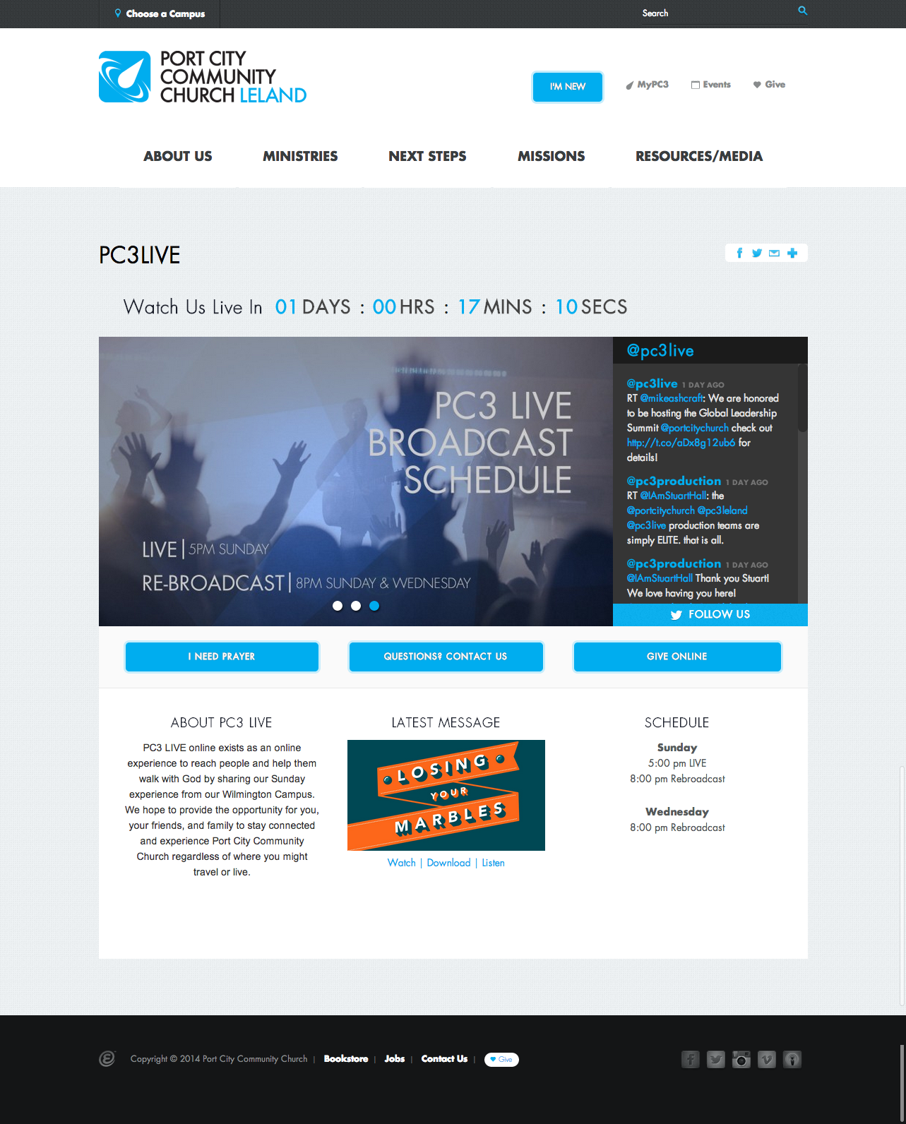 port city community churchs live streaming layout church website design