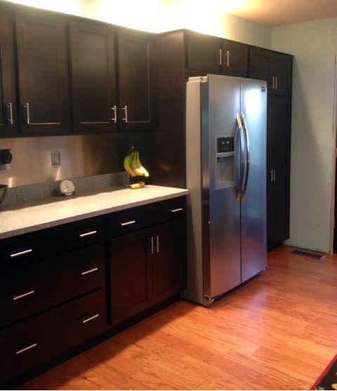 Homecrest Cabinets In Java Maple On The Arbor Door Style