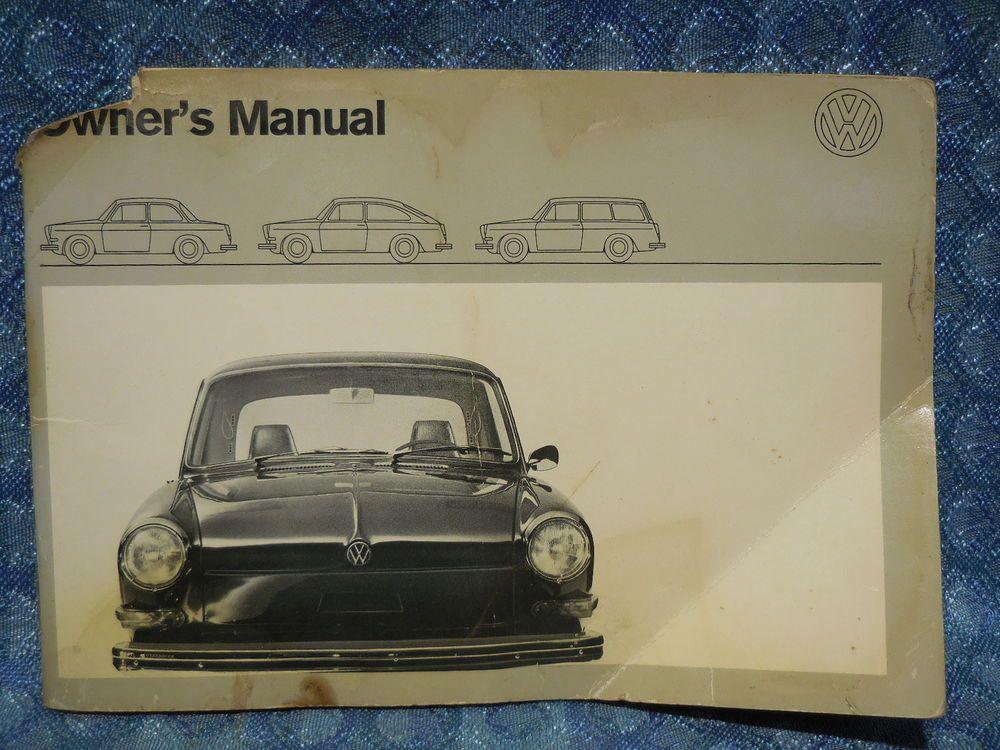 1971 volkswagen type 3 original owners manual vw squareback sedan rh pinterest nz vw type 3 service manual VW Type 4