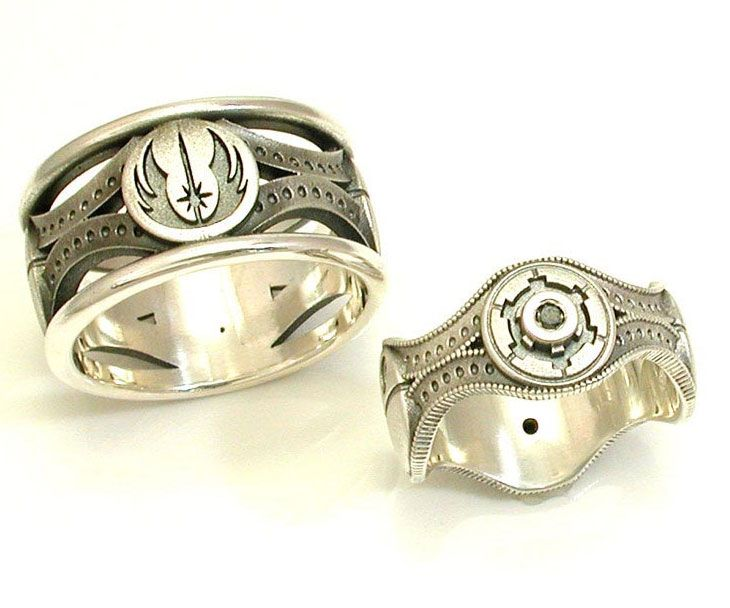Throne room star wars wedding bands