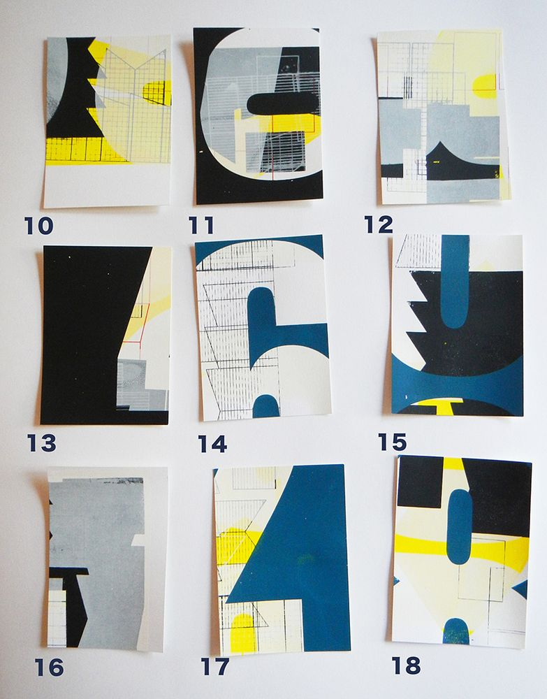 A5 Handprinted postcards in aid of the Rural Fire Service — KATE BANAZI