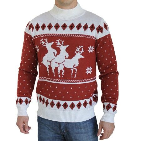 "Reindeer Menage A Trois Sweater...you will definitely be ""one of a kind"" at the office Christmas Party!"