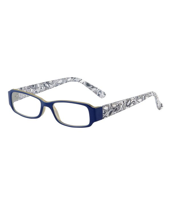 b2c743c712 Look at this I Heart Eyewear Navy Blue   Gray Paisley Ainsley Eye Candy  Readers on  zulily today!