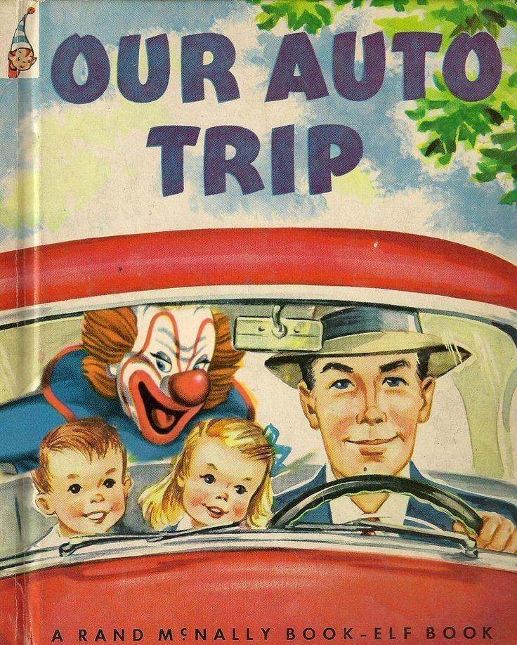 "Our Auto Trip with John Wayne Gacy. "" A Rand McNally Serial Killing Clown Book-Elf Book """