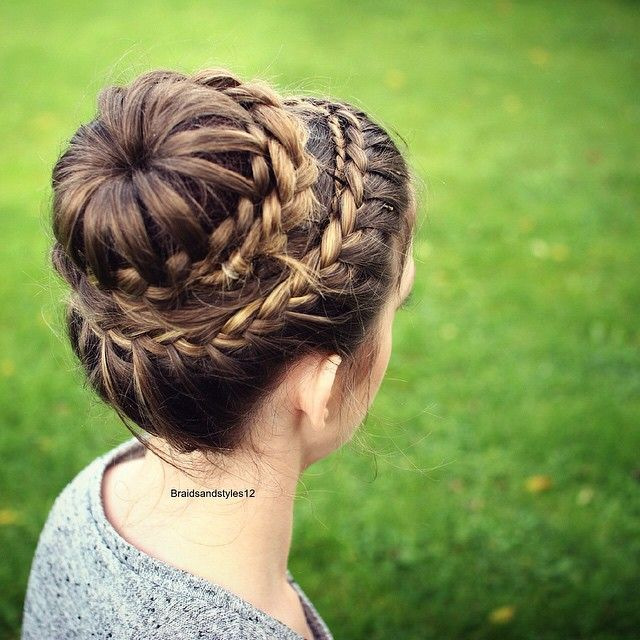 princess bun hairstyle crown