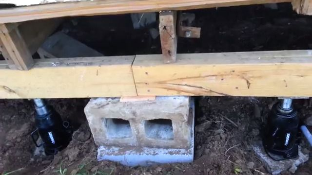 Leveling a pier beam after replacing the rotten floor joists and leveling a pier beam after replacing the rotten floor joists and beams dallas fort worth foundation repair 469 855 3540 solutioingenieria Choice Image