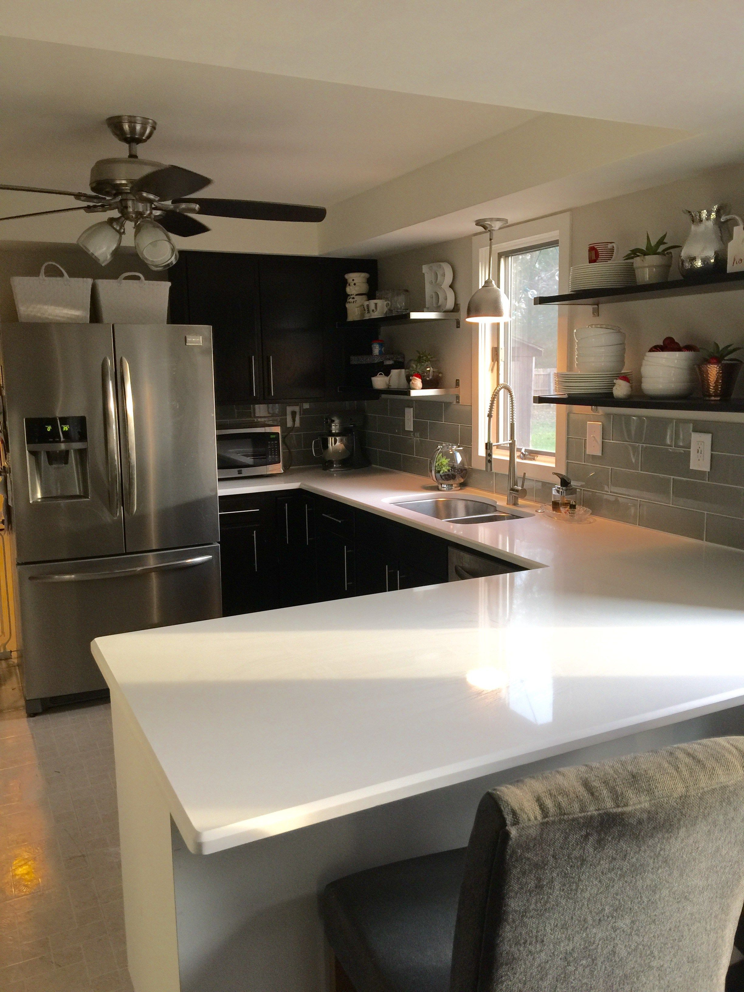 how we chose msi arctic white quartz counters white quartz counter kitchen home decor on kitchen island ideas white quartz id=86583