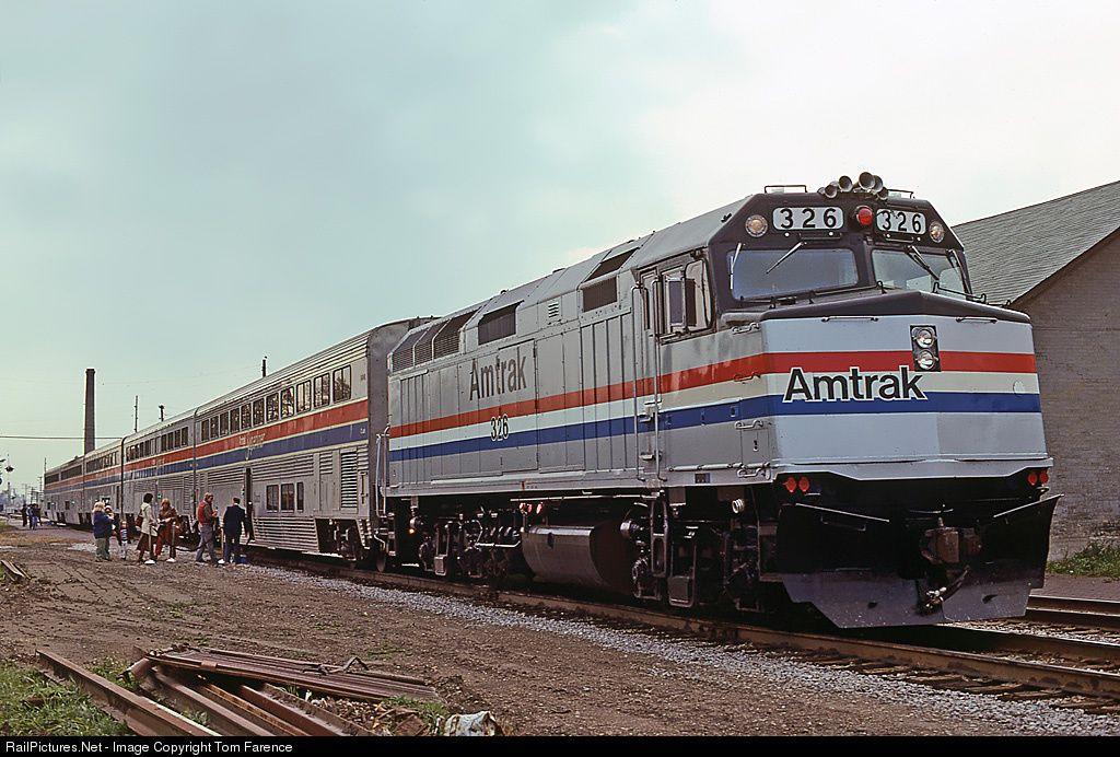 AMTK 326 Amtrak EMD F40PH at Columbus, Wisconsin by Tom