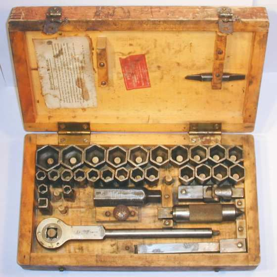 [Starrett No. 443-A Pressed-Steel Socket Set]