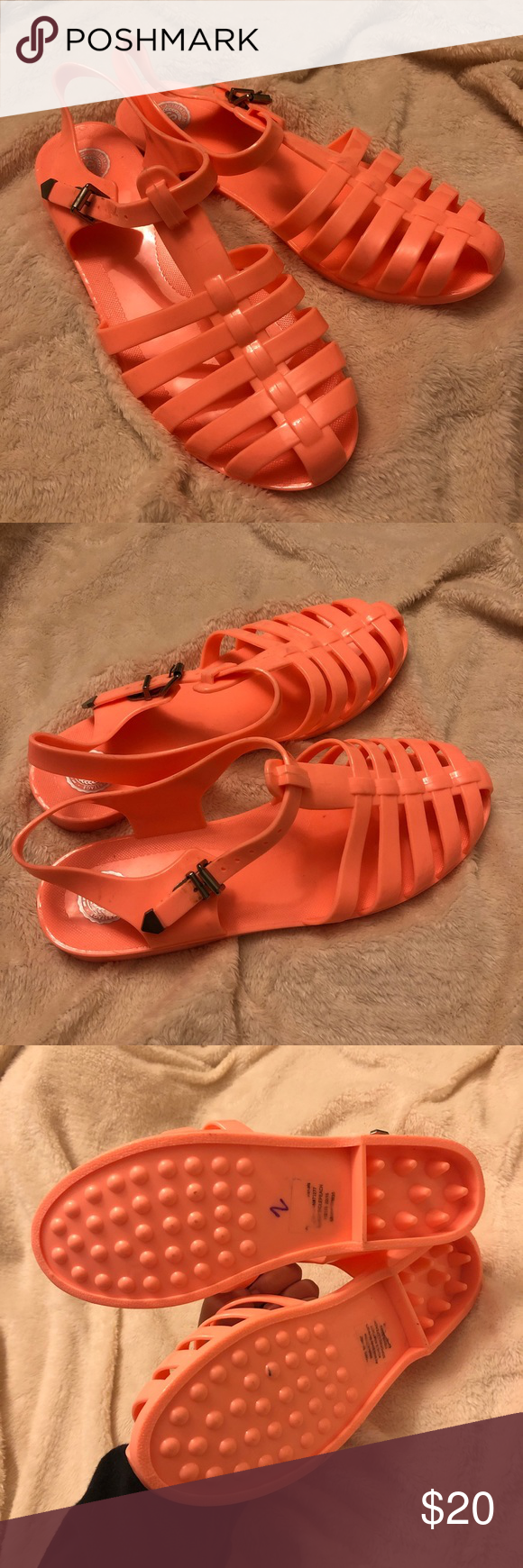 Peach Jelly Shoes Size 10 Kohl's SO