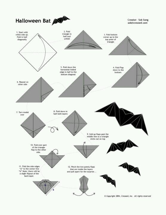 Broken How To Make An Origami Bat 3