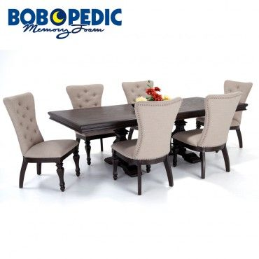 Riverdale 7 Piece Dining Set with Upholstered Chairs in 2019 ...