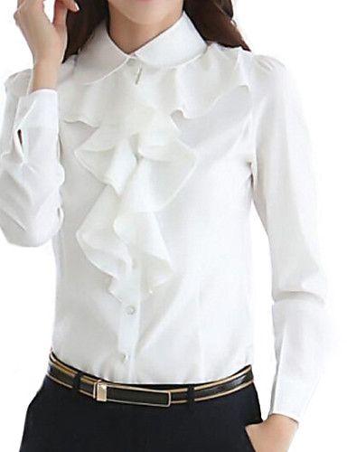 7e4439f21beb1 Mujer Simple Formal Primavera   Otoño Camisa