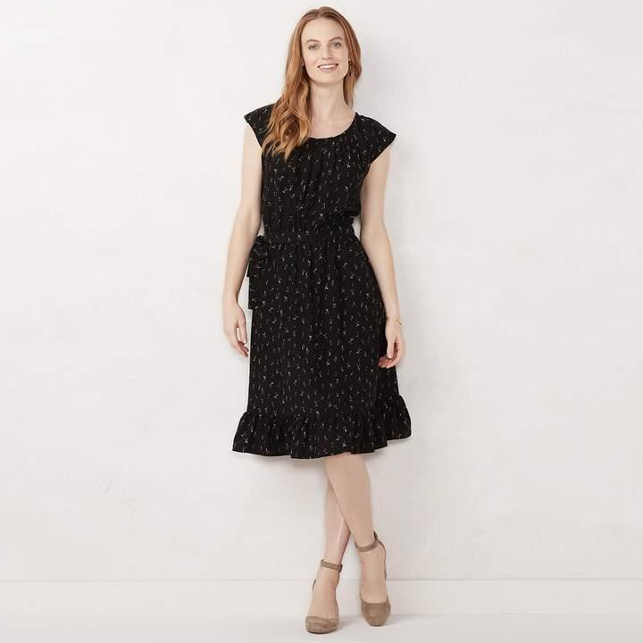 Petite Lc Lauren Conrad Pleat Neck Midi Dress Pleated Midi Dress Kohls Dresses Dresses