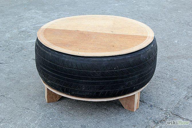 ecoideas y reciclaje cmo hacer una mesa utilizando un neumtico viejo