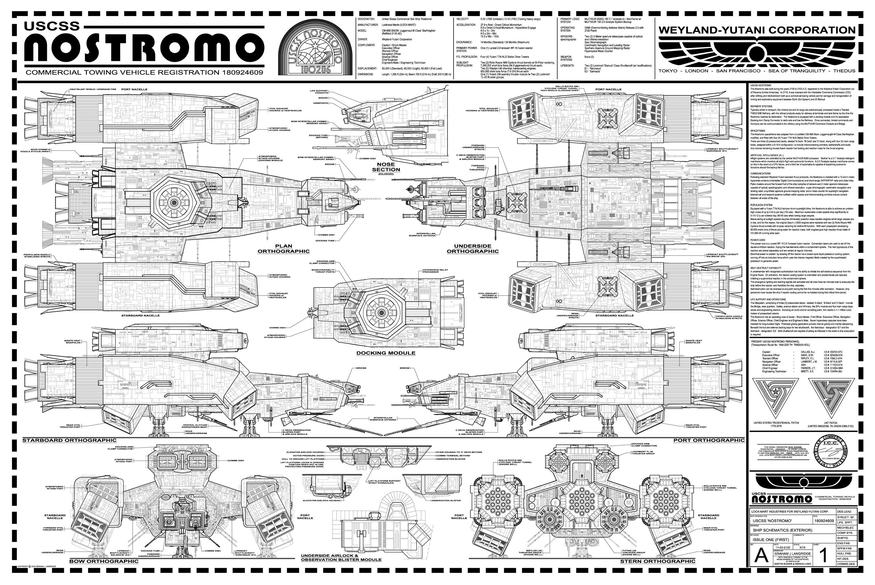 Alien - Nostromo Blueprint