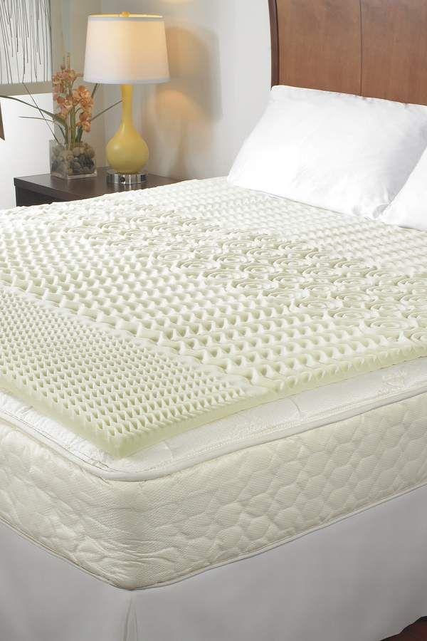 Rio Home Sleep Essentials 1 5 5 Zone Memory Foam Twin Topper Memory Foam Mattress Topper Mattress Foam Mattress Topper
