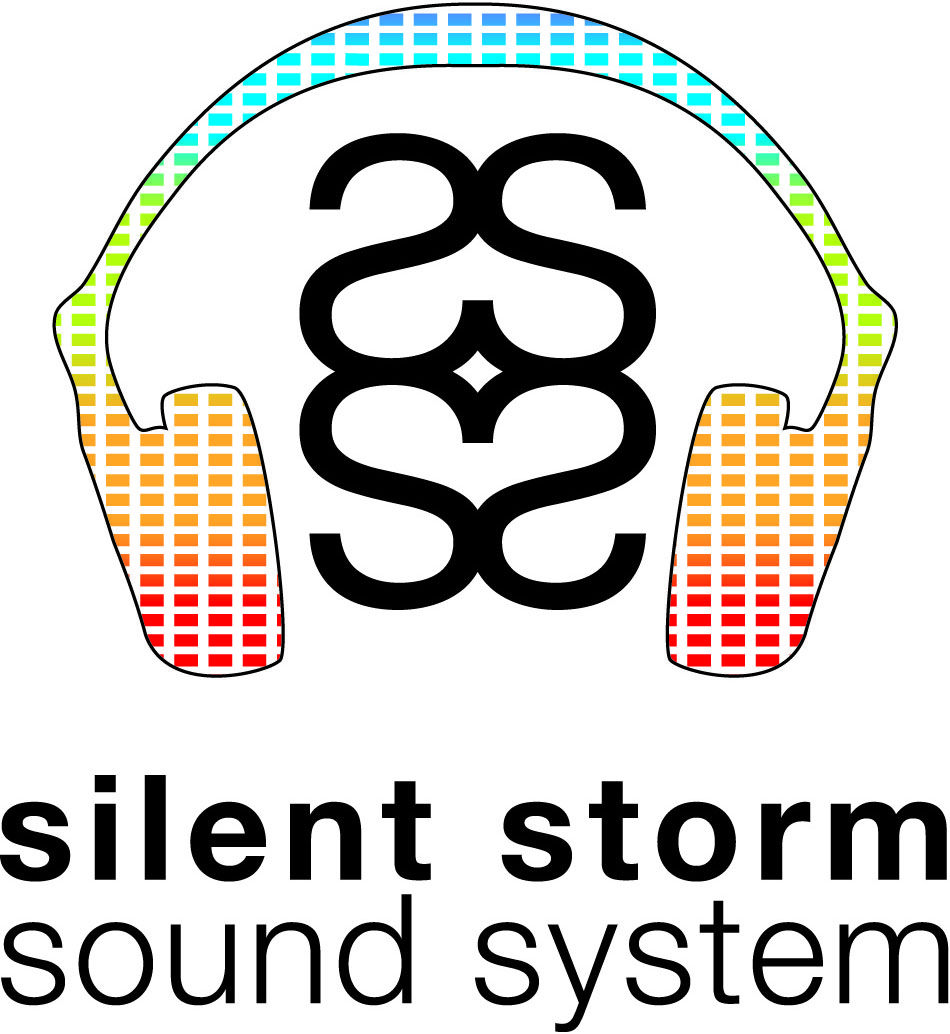 Color on white Silent Storm Sound System logo Storm