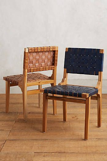 leather for chair seats leather loom dining chair furniture pinterest dining 16632 | d54337b95a65d286d035d9c33b9550ba
