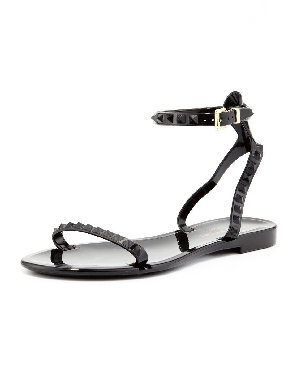 10f5e0216e26a VALENTINO Rockstud Ankle-Wrap Jelly Sandal  295