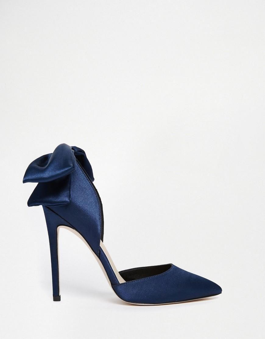 Asos asos phoenix pointed bow detail high heels at asos wedding