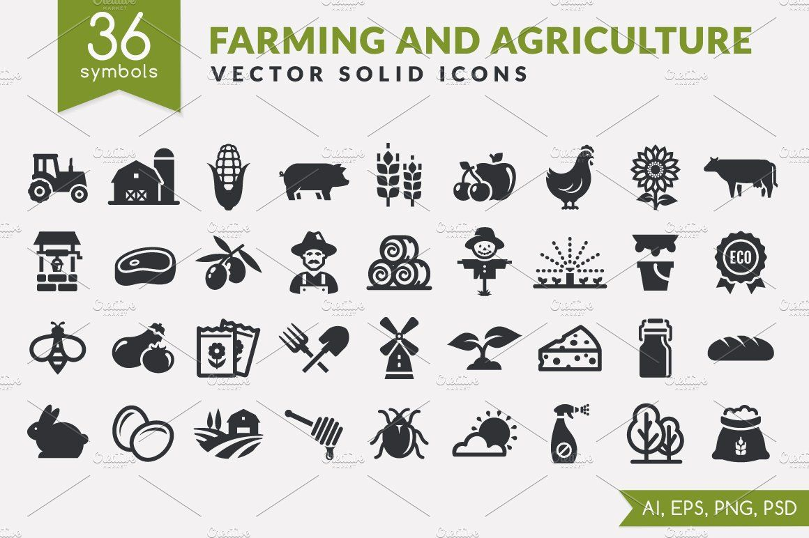 Farm And Agriculture Icons Icon Agriculture Farm