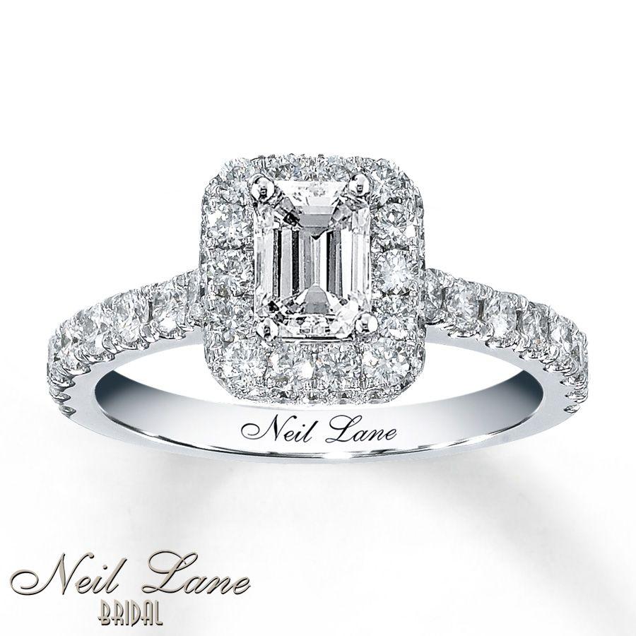 Neil lane bridal 138 ct tw diamond ring 14k white gold
